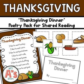 Thanksgiving Dinner Poetry Pack