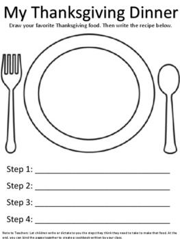 Thanksgiving Dinner Recipe Book
