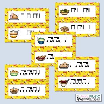 Thanksgiving Dinner! Rhythm Scavenger Hunt: Write the Room, Ti-tika