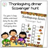 Thanksgiving Dinner Scavenger Hunt