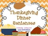 Thanksgiving Dinner Sentences  {Pocket Chart Stations}
