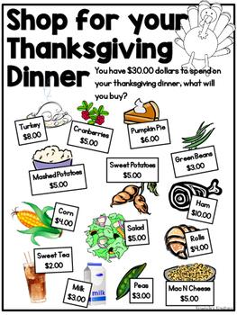 Thanksgiving Dinner Shopping