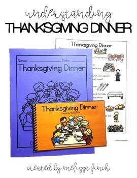 Thanksgiving Dinner- Social Story for Student's with Speci