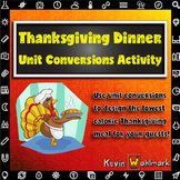 Thanksgiving Dinner Unit Conversions Activity