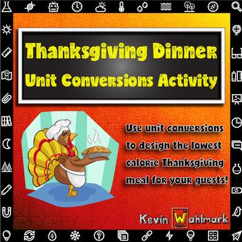 Thanksgiving Dinner Unit Conversions Activity