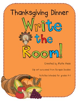 Thanksgiving Dinner - Write the Room!