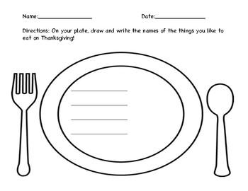 Thanksgiving Dinner Writing Center