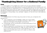 Thanksgiving Dinner for a Rational Family Middle School Ma