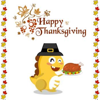Thanksgiving Dino -VIPKID