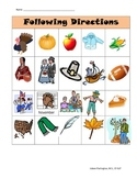 Thanksgiving Direction Following Activity