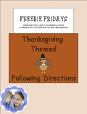 Thanksgiving Directions & Basic Concepts: Freebie Fridays