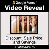 Thanksgiving: Discount, Sale Price, Savings - Google Forms