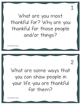Thanksgiving Discussion Cards