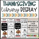 Thanksgiving Display Signs and Bookmarks