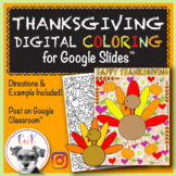 Thanksgiving Distance Learning Digital Coloring Pages for