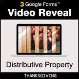 Thanksgiving: Distributive Property - Google Forms Math |