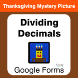 Thanksgiving: Dividing Decimals - Mystery Picture - Google Forms