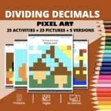 Thanksgiving: Dividing Decimals Pixel Art Mystery Pictures