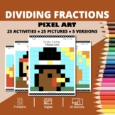 Thanksgiving: Dividing Fractions Pixel Art Mystery Pictures