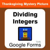 Thanksgiving: Dividing Integers - Mystery Picture - Google Forms