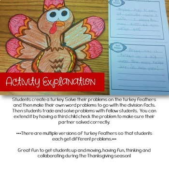 Thanksgiving Division Activity and Craft for Problem Solving Skills