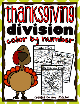 Thanksgiving Division Color by Number