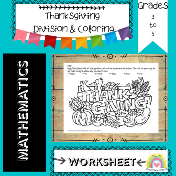 Thanksgiving Division & Coloring
