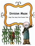 Thanksgiving Math Division Maze Activity