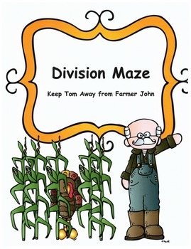 Thanksgiving Math Division Maze Activity