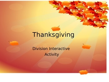 Thanksgiving Division PowerPoint