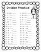 Thanksgiving Division Practice Worksheet Pack - 4 Sheets -