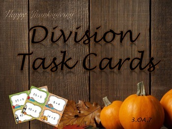 Thanksgiving Division Task Cards