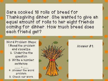 Thanksgiving Division Word Problems
