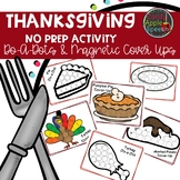Thanksgiving No Prep Activity: Do-A-Dots and Magnetic Chip Cover Ups