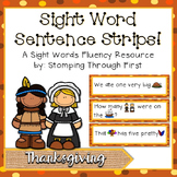 Sight Word Sentence Strips: Thanksgiving Set