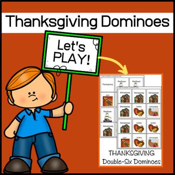Thanksgiving Dominoes Set