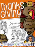 Thanksgiving Activities - ¿Dónde está el pavo? Positional Words Reader - Spanish