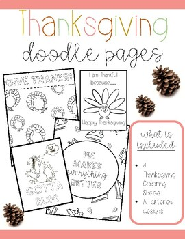 Thanksgiving Doodle Sheets