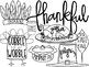 Thanksgiving Doodles Digital Clip Art Set
