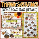 Thanksgiving Door & Board Decor {Editable!}