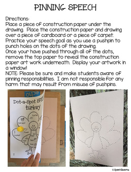 Thanksgiving Dot a Spot Speech Therapy Pokey Art Craft