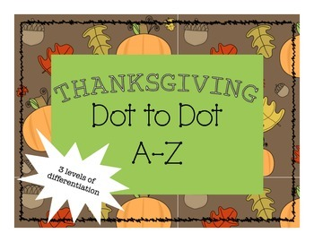 Thanksgiving Dot to Dot A-Z
