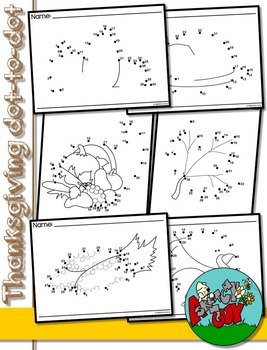 Dot to Dot / Connect the Dots 1 - 30 - THANKSGIVING HOLIDAY