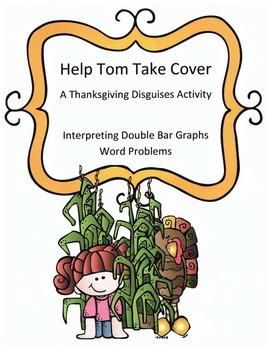 Thanksgiving Math  Word Problems Activity: Interpreting Double Bar Graphs
