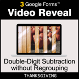 Thanksgiving: Double-Digit Subtraction without Regrouping