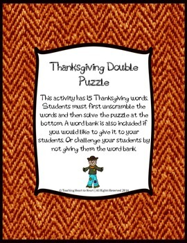 Thanksgiving Double Puzzle
