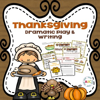 Thanksgiving Dramatic Play and Writing Center