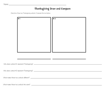 Thanksgiving Draw & Compare