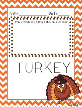 Thanksgiving Drawing/Tracing Printable