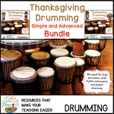 Thanksgiving Drumming Simple and Advanced Bundle
